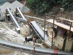 四川平武350吨石料线生产现场
