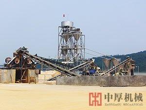 广东佛山石英砂生产线现场
