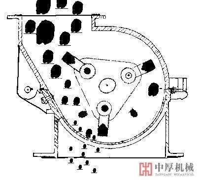 单段锤式破碎机结构图