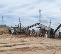 湖南常德时产100吨河卵石制砂现场