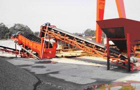 中煤二十九处安徽宿州工程处螺旋洗石机现场