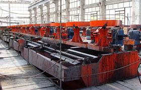 云南铜铅锌矿浮选生产线现场