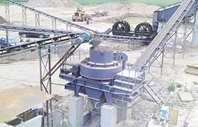四川300t/h河卵石混料制砂生产现场