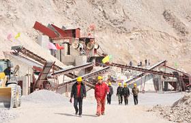 青海时产300吨玄武岩石料生产线