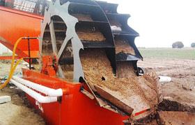 轮斗洗砂机洗砂现场与发货