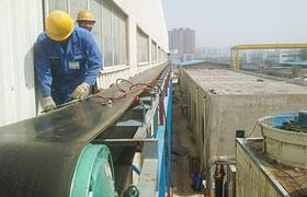 河南省中厚机械长距离皮带输送机安装现场