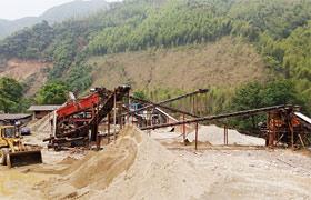 广西梧州时产100吨人工制砂生产线现场