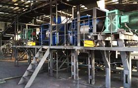 内蒙乌海型煤生产线现场